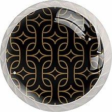 KAMEARI Round Cabinet Knob Abstract Geometric