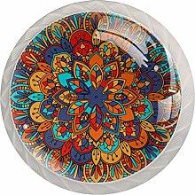 KAMEARI Round Cabinet Knob Abstract Mandala Set of