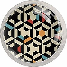 KAMEARI Round Cabinet Knob Beautiful Geometric Set