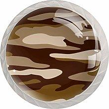 KAMEARI Round Cabinet Knob Brown Camouflage
