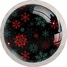 KAMEARI Round Cabinet Knob Christmas Snowflake Set