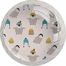 KAMEARI Round Cabinet Knob Cold Penguin with Hats