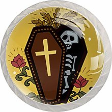 KAMEARI Round Cabinet Knob Cute Coffin with