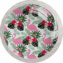 KAMEARI Round Cabinet Knob Dark Pink Flamingo with