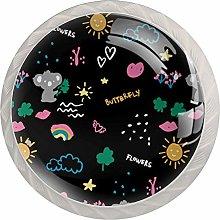 KAMEARI Round Cabinet Knob Kids Koala Bear Set of 4