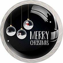 KAMEARI Round Cabinet Knob Merry Christmas Design