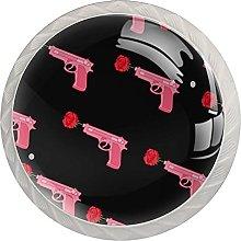 KAMEARI Round Cabinet Knob Pink Girl Power Gun