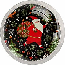 KAMEARI Round Cabinet Knob Santa with Gift Package