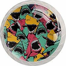 KAMEARI Round Cabinet Knob Sharks Set of 4