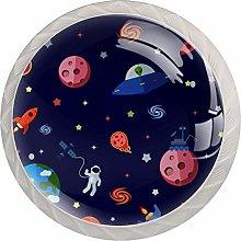 KAMEARI Round Cabinet Knob Space Planets Stars Set
