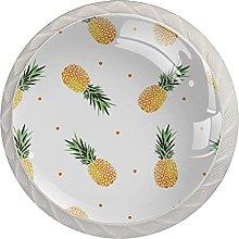 KAMEARI Round Cabinet Knob Yellow Pineapple with