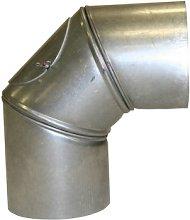 Kamino-Flam 90° Elbow Pipe Ø 130mm, Hot-dip