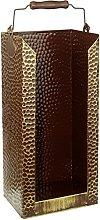 Kamino-Flam Antique Brass Briquette Holder,