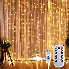 KAMLIKE 3 Meters 300 LEDS Waterproof Curtain Light