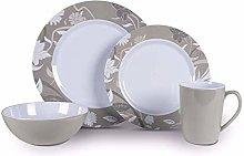 Kampa Bloom Heritage 16 Piece Melamine Dinner Picnicware Se
