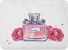 Kanaite Bath Mat Aroma Pink Vintage Perfume Bottle