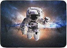 Kanaite Bath Mat Science Universe Astronaut in