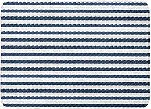 Kanaite Bath Mat Sea Black Nautic Navy Rope