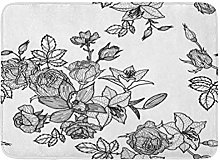 Kanaite Bath Mat Vintage Floral in Victorian Style