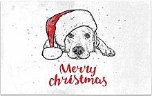 Kanaite Cute Labrador Puppy Dog Year Santa Claus