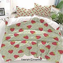 Kanaite Fruits Decor Duvet Cover Set,Spring Daisy