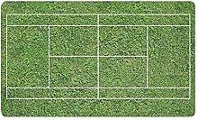 Kanaite Funny Green Tennis Court Doormat Non Slip