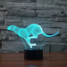 Kangaroo Acrylic USB 3D Desk Table Lamp Gift