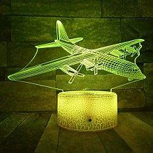 KangYD 3D Night Light Air Plane Aircraft Glider,