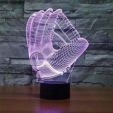 KangYD 3D Night Light Baseball Gloves Lamp, LED