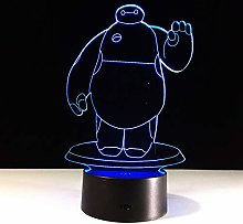KangYD 3D Night Light Cartoon Great White Shape,