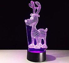 KangYD 3D Night Light Christmas Reindeer, LED