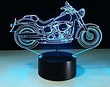 KangYD 3D Night Light Cool Motorcycle Model, LED