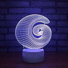 KangYD 3D Night Light Crative Snails Shape, LED