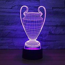 KangYD 3D Night Light Creative Champion Trophy,