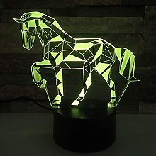 KangYD 3D Night Light Creative Diamond Horse, LED