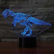 KangYD 3D Night Light Creative Dinosaur Skeletons,
