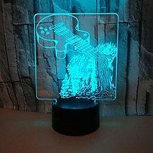 KangYD 3D Night Light Creative Musical Running