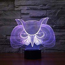 KangYD 3D Night Light Creative Owl Eagle, LED