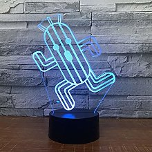 KangYD 3D Night Light Cute Cactus Shape, LED