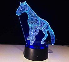KangYD 3D Night Light Decor Horse Shape, LED