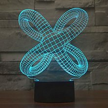 KangYD 3D Night Light Distorted Abstract, LED