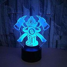 KangYD 3D Night Light Fire Fighting Tools, LED