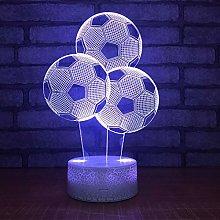 KangYD 3D Night Light Football Balloon Shape, LED