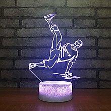 KangYD 3D Night Light Hip Hop Street Dancer, LED