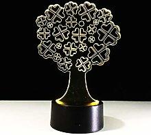 KangYD 3D Night Light Lucky Tree Decor Lamp, LED