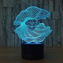 KangYD 3D Night Light Mother Pearl Diamond, LED