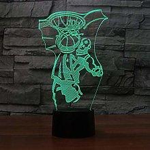 KangYD 3D Night Light Slam Dunk Basketball, LED