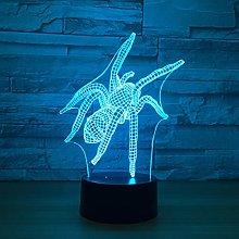 KangYD 3D Night Light Spider Model Lamp, LED