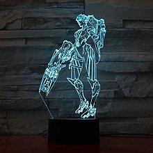 KangYD 3D Night Light Star Warrior Model, LED