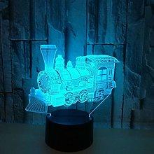 KangYD 3D Night Light Steam Train Head, LED